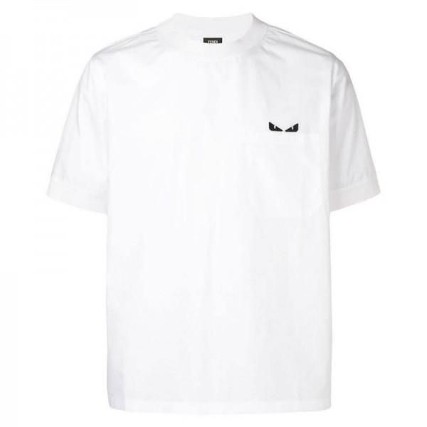 Fendi Bag Bugs Tişört Erkek Beyaz