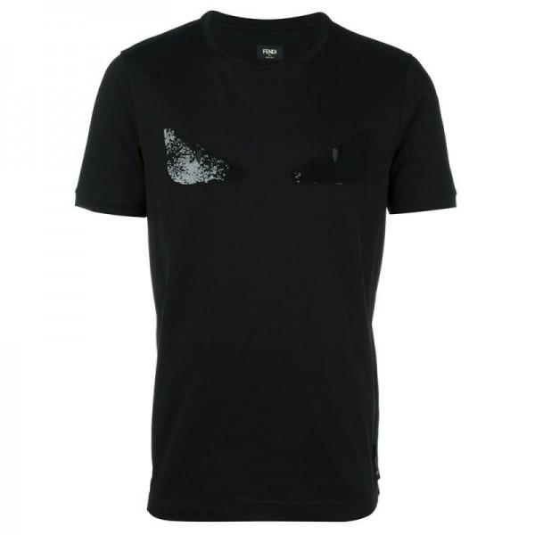 Fendi Bag Bugs Tişört Siyah Erkek