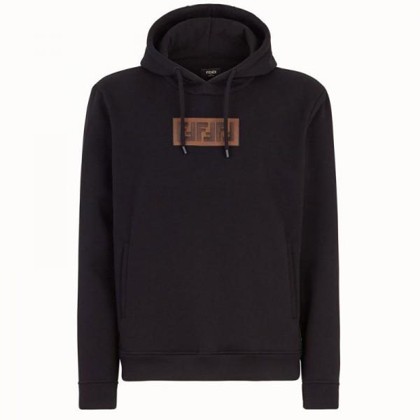 Fendi Ff Sweatshirt Erkek Siyah