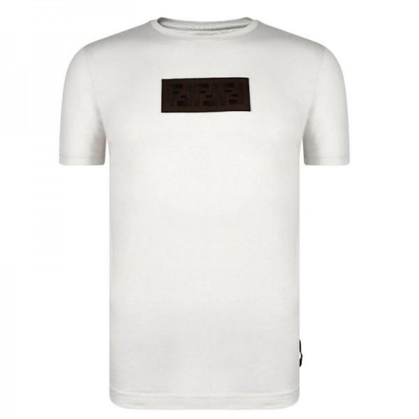 Fendi FF Tişört Erkek Beyaz