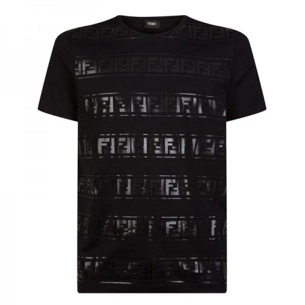 Fendi FF Tişört Erkek Siyah