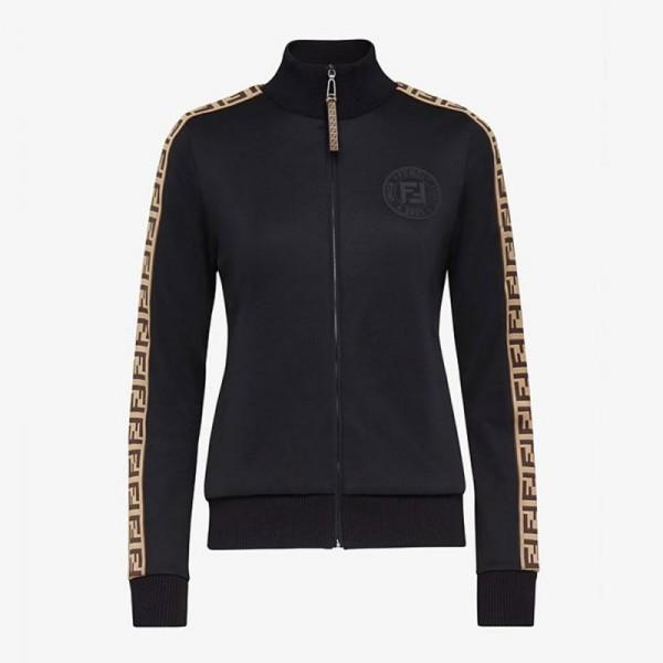 Fendi Jersey Sweatshirt Kadın Siyah