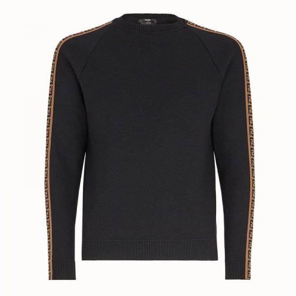 Fendi Jumper Sweatshirt Erkek Siyah