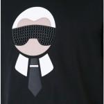 Fendi Karl Loves Tişört Siyah Erkek