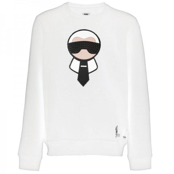 Fendi Karlito Sweatshirt Beyaz Erkek