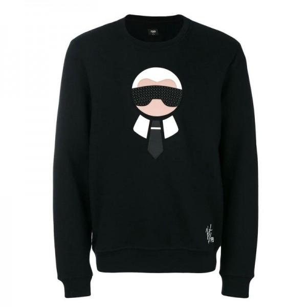 Fendi Karlito Sweatshirt Siyah Erkek
