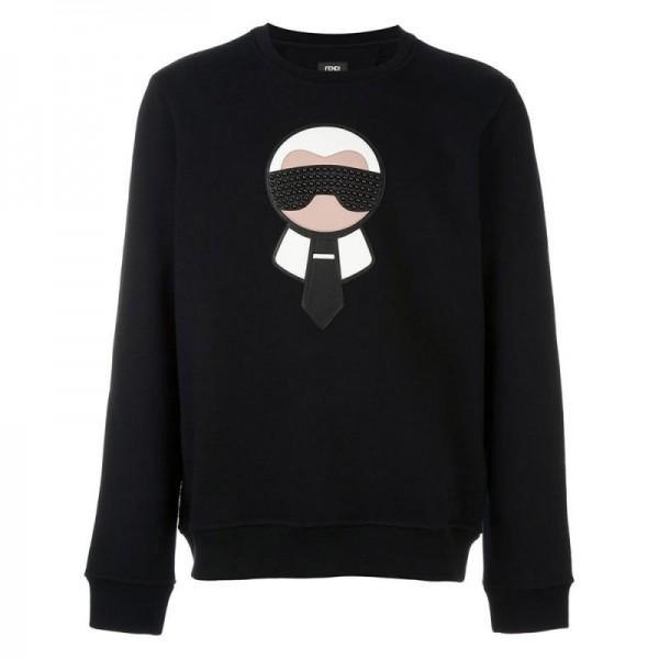Fendi Karlito Sweatshirt Siyah Kadın