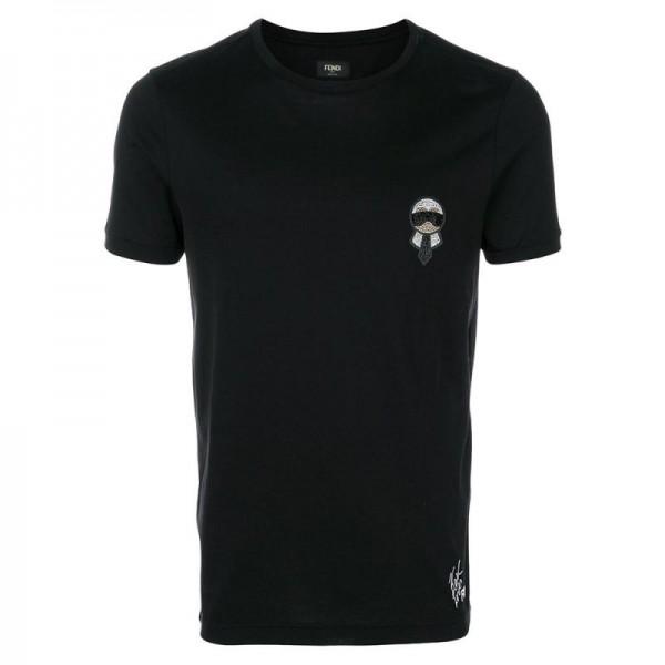 Fendi Karlito Tişört Siyah Erkek