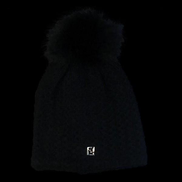 Fendi Logo Bere Siyah Kadın