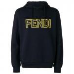 Fendi Logo Sweatshirt Lacivert Erkek