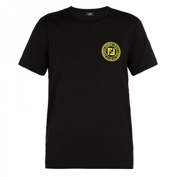 Fendi Logo Tişört Erkek Siyah