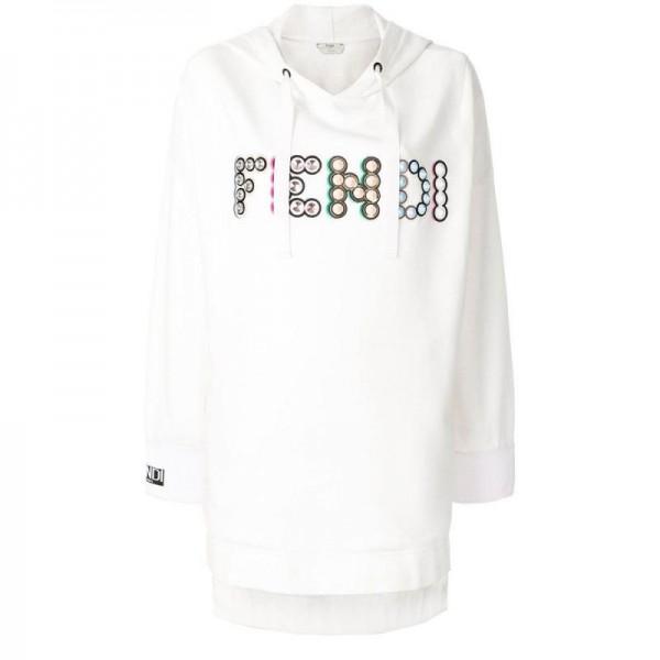 Fendi Maxi Sweatshirt Beyaz Kadın