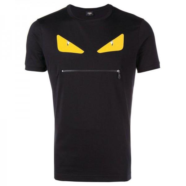 Fendi Monster Tişört Siyah Erkek