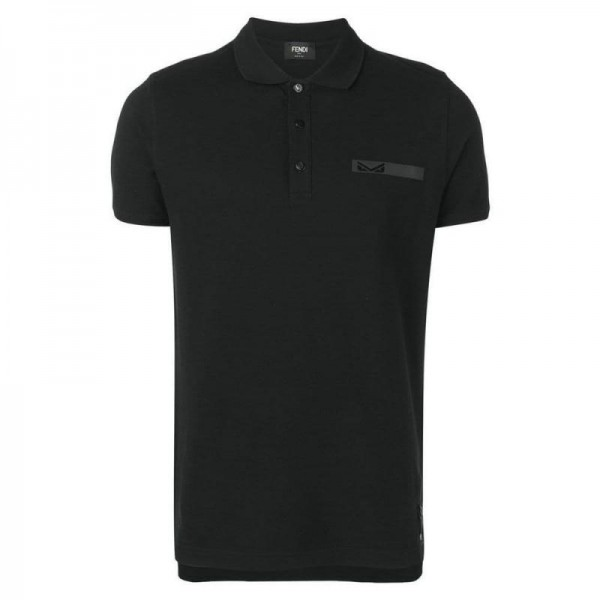 Fendi Polo Tişört Erkek Siyah