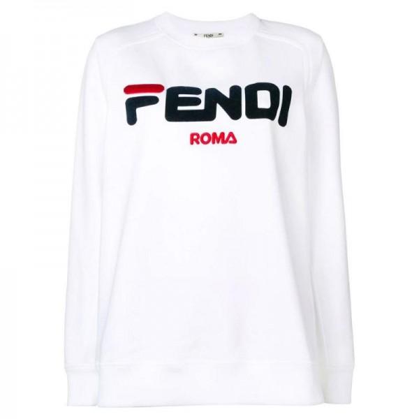 Fendi Roma Sweatshirt Beyaz Kadın