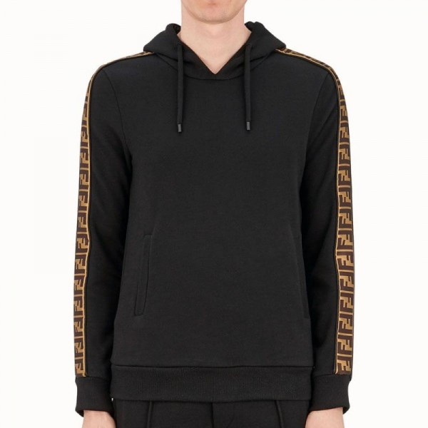 Fendi Stripe Sweatshirt Siyah Erkek