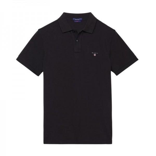 Gant Solid Tişört Black Erkek