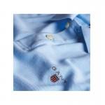 Gant Solid Tişört Capri Blue Erkek