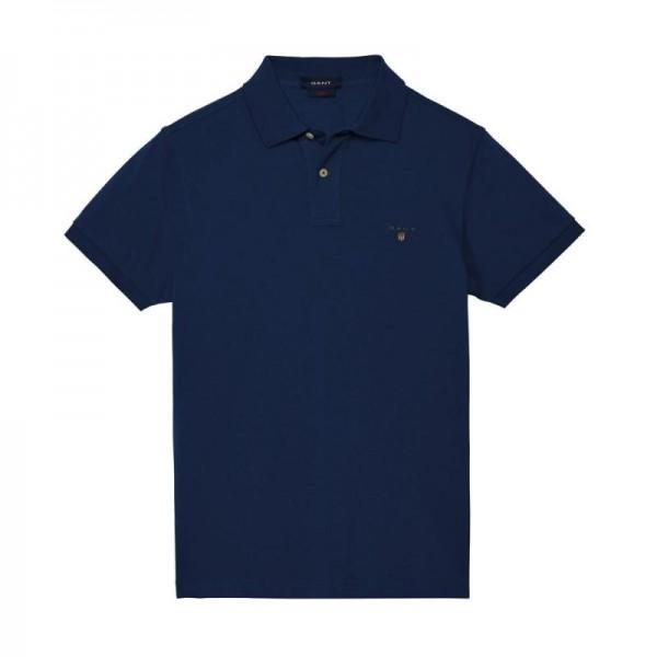 Gant Solid Tişört Indigo Blue Erkek