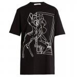 Givenchy Bambi Tişört Siyah Kadın