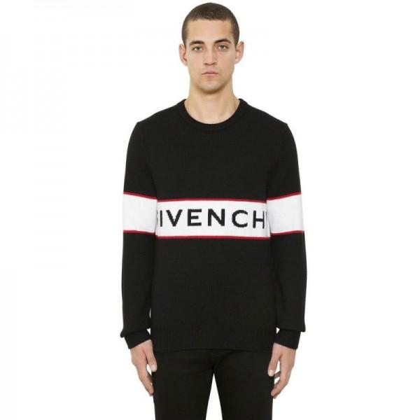Givenchy Jacquard Sweatshirt Siyah Erkek