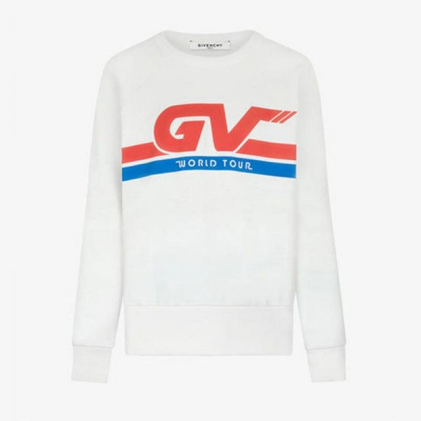 Givenchy Motocross Sweatshirt Beyaz Erkek