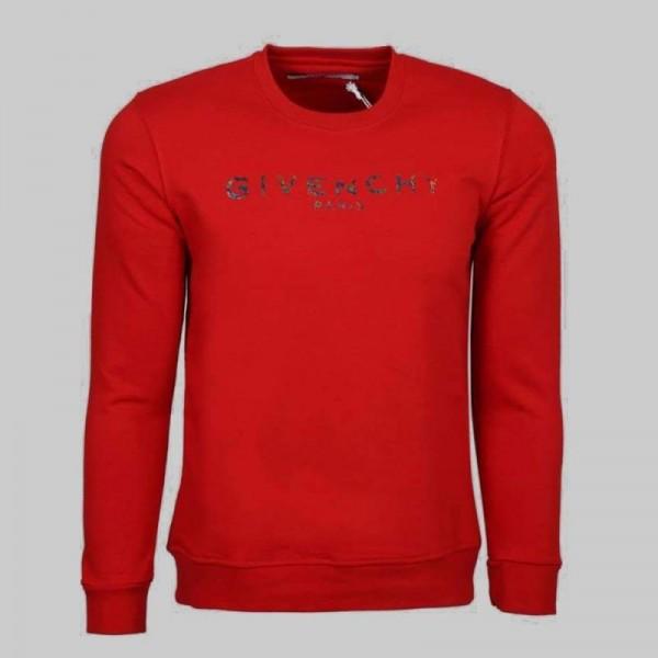 Givenchy Paris Sweatshirt Erkek Kırmızı