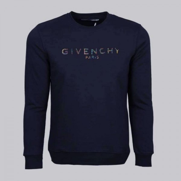Givenchy Paris Sweatshirt Erkek Lacivert
