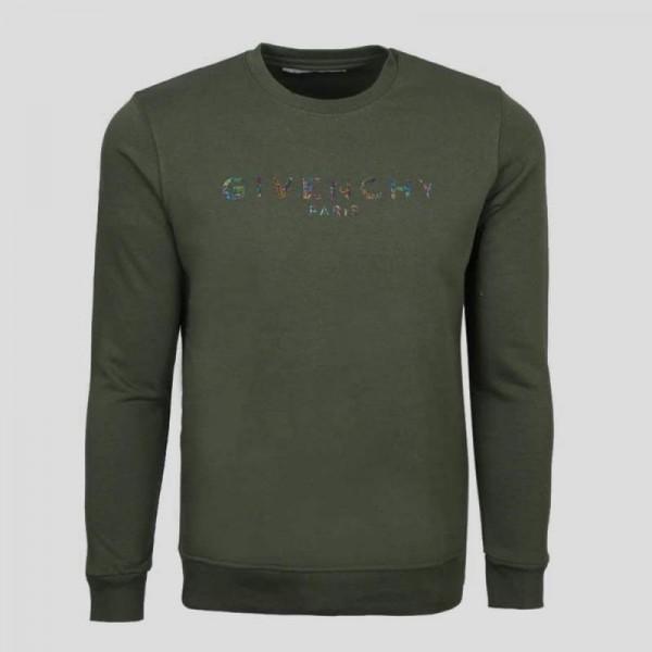 Givenchy Paris Sweatshirt Erkek Yeşil