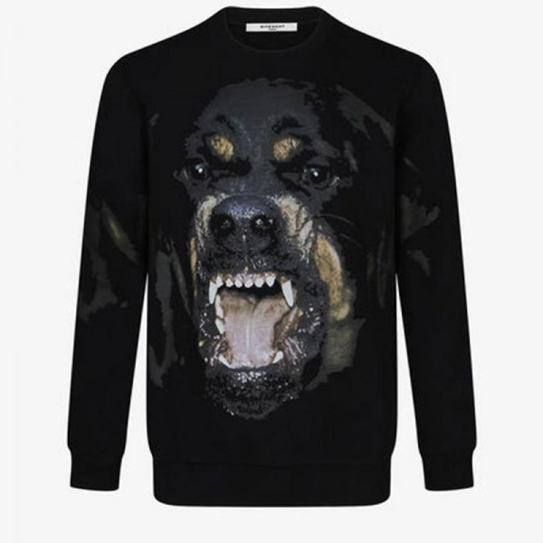 Givenchy Rottweiler Sweatshirt Siyah Erkek