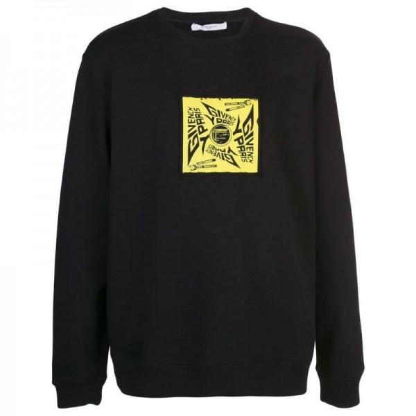 Givenchy Sun Sweatshirt Erkek Siyah