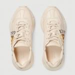 Gucci Ace Leather Ayakkabı Beyaz Erkek