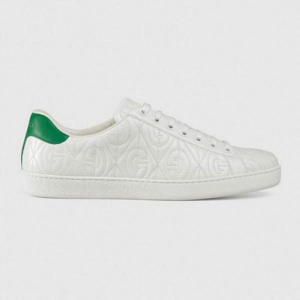 Gucci Ace Rhombus Ayakkabı Erkek Beyaz