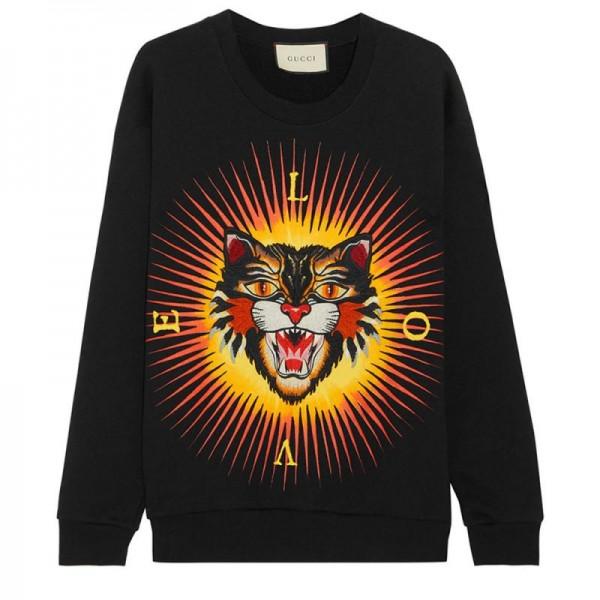 Gucci Angry Cat Sweatshirt Siyah Erkek