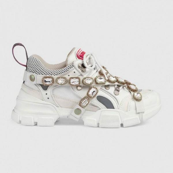 Gucci Flashtrek Ayakkabı Beyaz Kadın