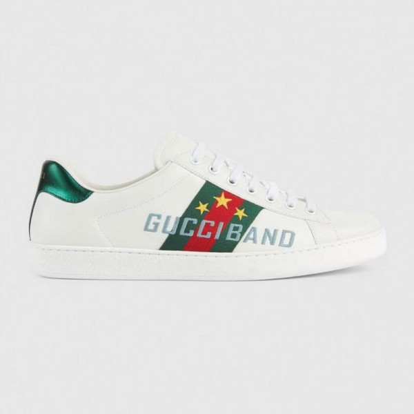 Gucci Band Ayakkabı Erkek Beyaz