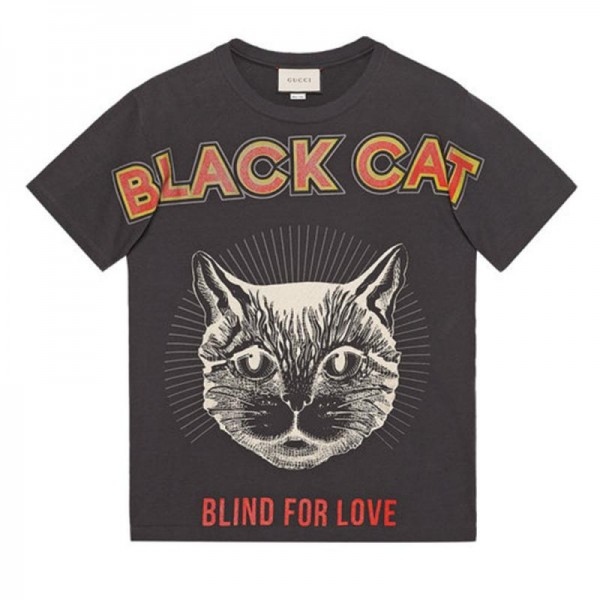 Gucci Black Cat Tişört Siyah Erkek