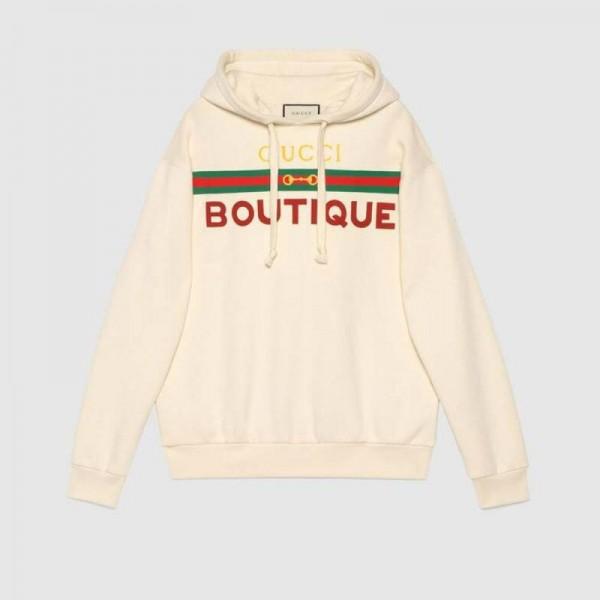 Gucci Boutique Sweatshirt Beyaz