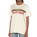 Gucci Boutique Tişört Kadın Beyaz