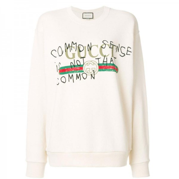 Gucci Capitan Sweatshirt Beyaz Kadın