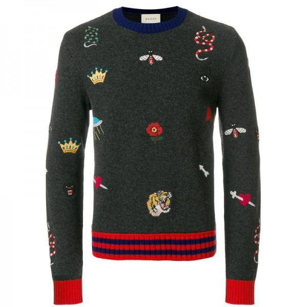 Gucci Crewneck Sweatshirt Gri Erkek