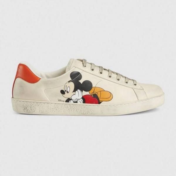 Gucci Disney Ayakkabı Erkek Beyaz