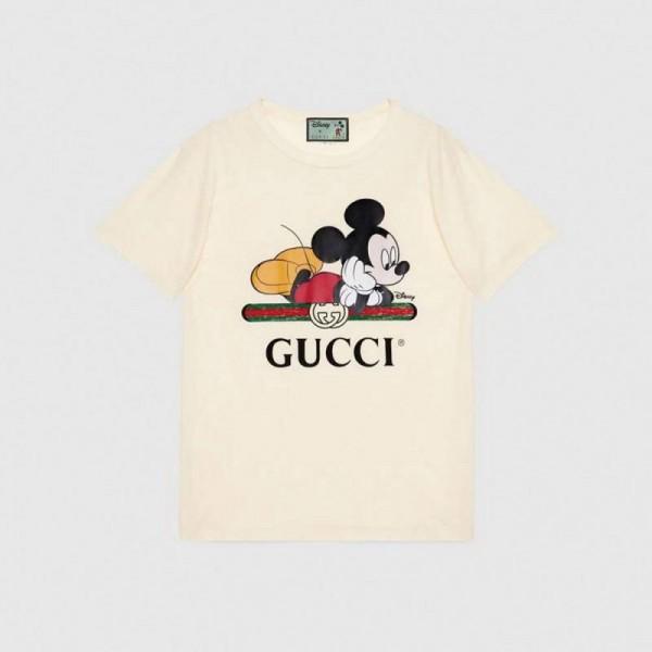 Gucci Disney Tişört Kadın Beyaz