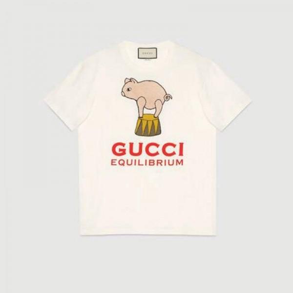 Gucci Equilibrium Tişört Kadın Beyaz