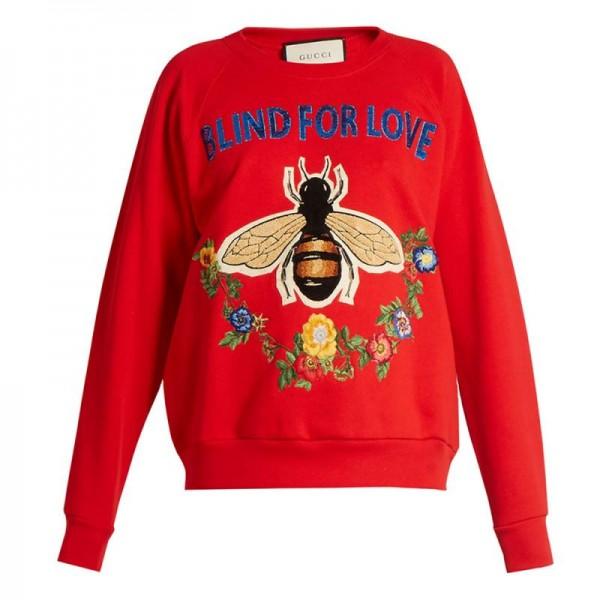 Gucci Floral Sweatshirt Kırmızı Kadın