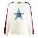 Gucci Gg Star Sweatshirt Erkek Beyaz