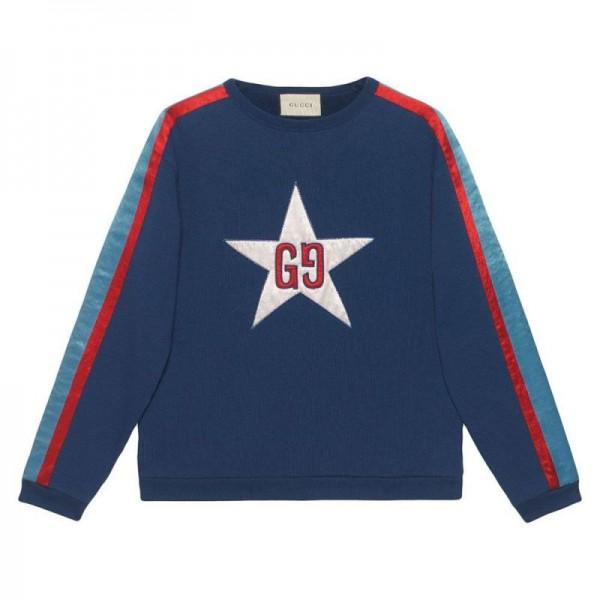 Gucci Gg Star Sweatshirt Erkek Mavi