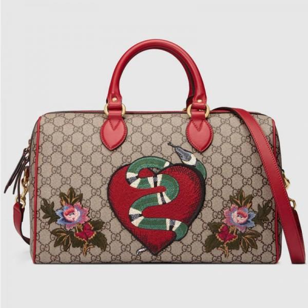 Gucci Gg Supreme Çanta Krem Kadın