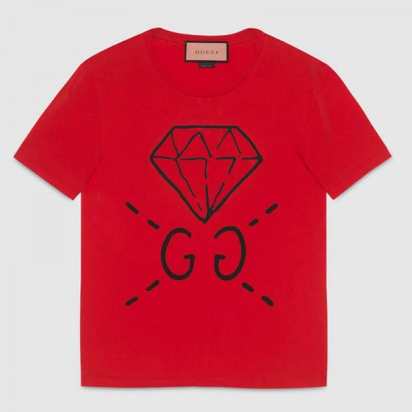 Gucci Ghost Tişört Kırmızı Erkek