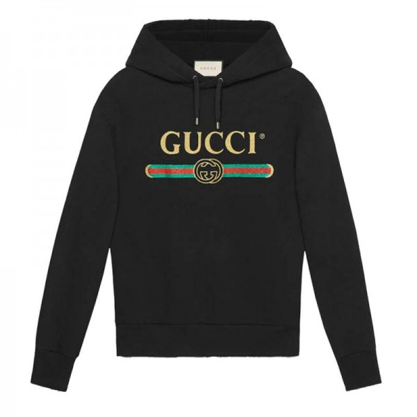 Gucci Glitter Sweatshirt Siyah Erkek